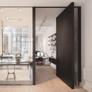 Uniform+Wares+offices+include+a+glazed+watch-prototyping+room+and+a+pivoting+timber+door