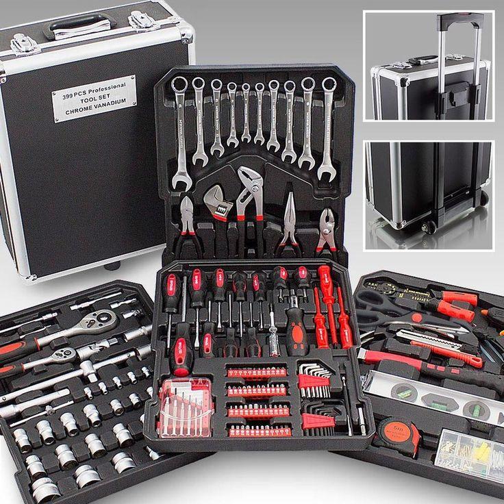 mallette xxl avec 399 outils valise roulettes pas cher. Black Bedroom Furniture Sets. Home Design Ideas