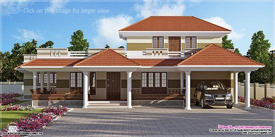 Kerala villa exterior