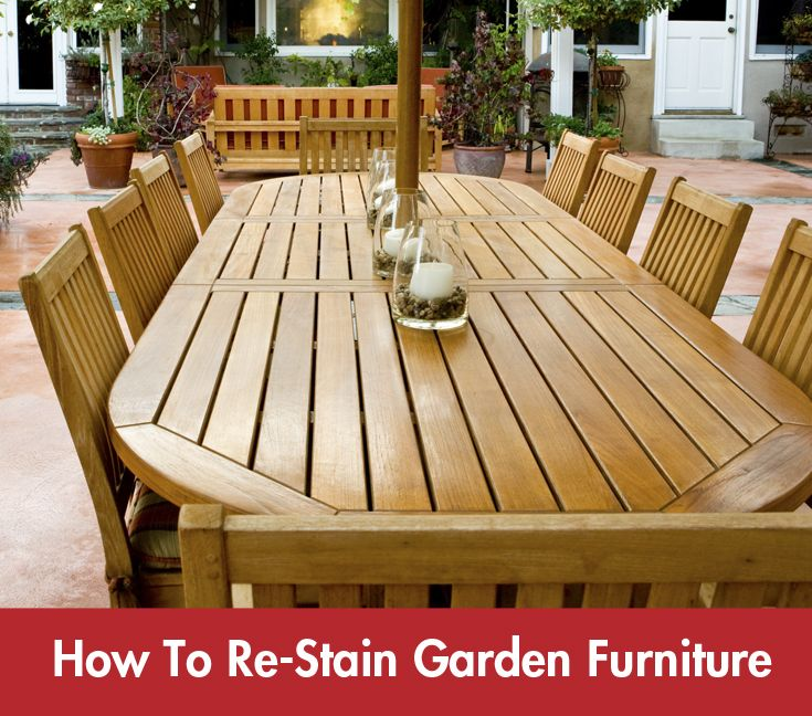 Give your garden furniture a new lease of life and see how your revitalised furniture makes a remarkable difference to the appearance of the #garden.  #Summer #DIY