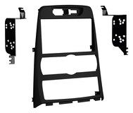 Metra - Double DIN Installation Kit for Select 2010 and Later Hyundai Genesis Coupe 2.0 Vehicles - Matte Black