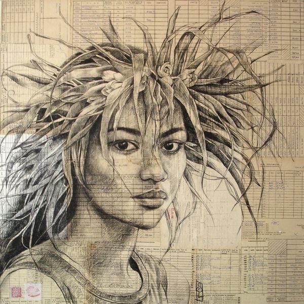 -Stéphanie Ledoux- 'couronne de feuilles'