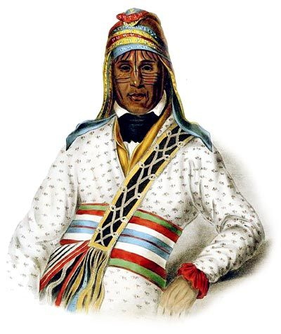Picture of a Creek Chief. Taken from http://www.warpaths2peacepipes.com/