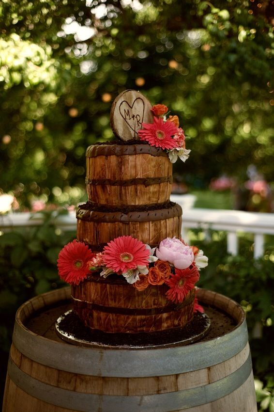 Wine Barrel cake Made by Delicious Designs