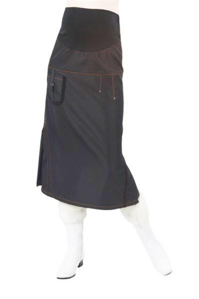 Длинная утепленная юбка