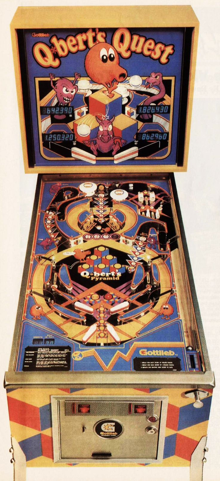 Gottileb Q-Berts Quest pinball machine