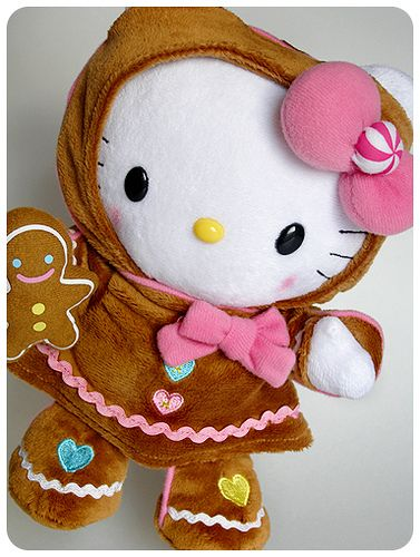 Gingerbread Hello Kitty Plushie  #cute #kawaii #sweet #plush #hellokitty #sanrio