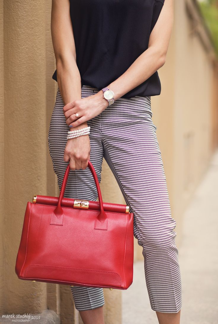 BAG, RED, PEARLS, TISSOT, WATCH