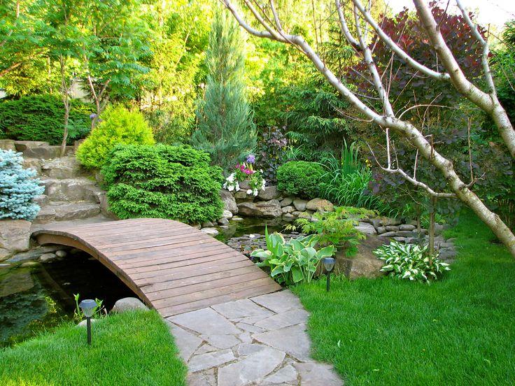 Японский сад — это в первую очередь сад воды и камней. Ландшафтный дизайн реализован студией Укр Ландшафт www.ukrpark.com