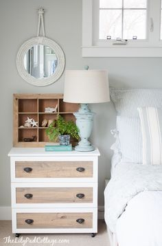 Ikea Tarva Hack - turn an inexpensive dresser into the perfect DIY night stands.