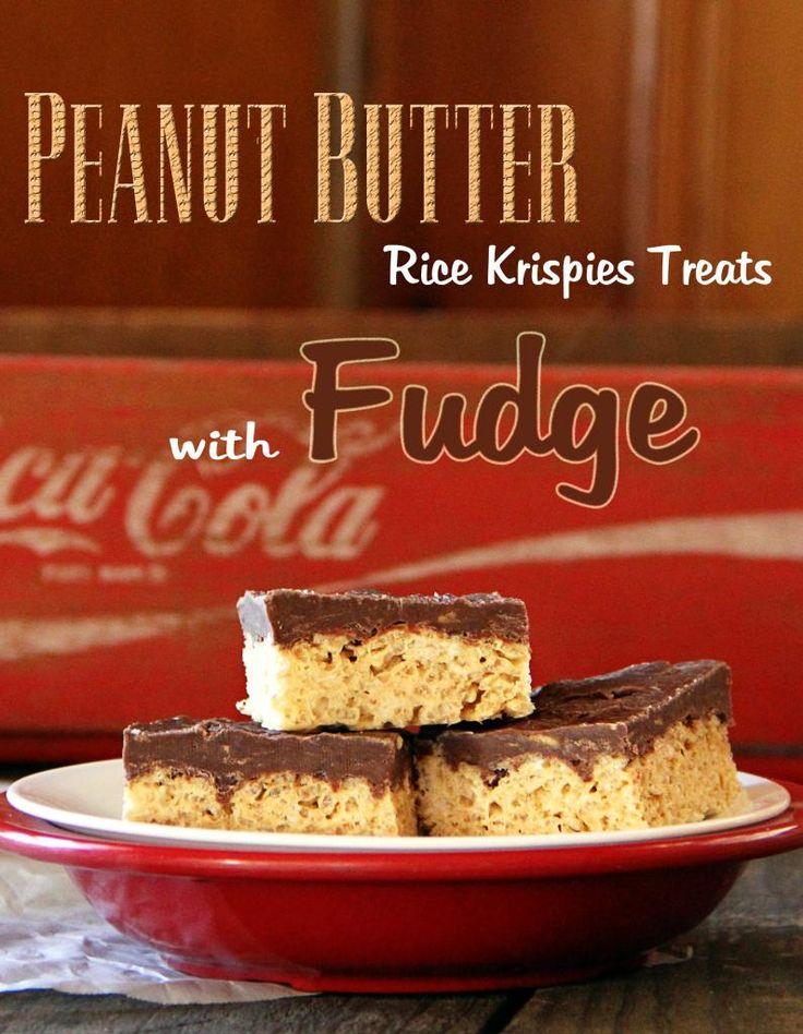 Peanut Butter ~ Fudge Rice Krispies Treats