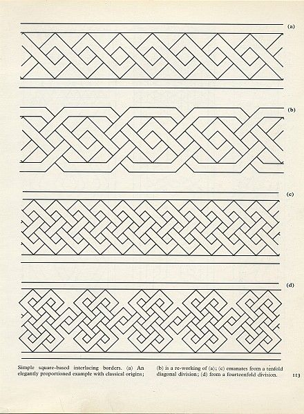 """Pattern in Islamic Art."" (Looks very similar to Celtic and Viking geometric patterns. To me.)"