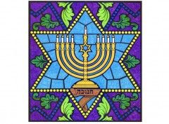Hanukkah Mural. $5 PDF template. Every student colors one page. Tape all together to make one large mural. Great collaborative art project.