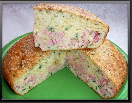 Заливной пирог с колбасой и сыром / Интересное в IT