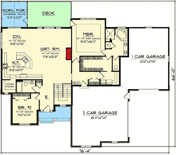 25 best ideas about craftsman ranch on pinterest ranch for Ranch house plans with bedrooms together