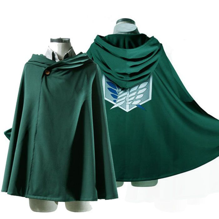 Are You An Attack On Titan Fan? You Need To Get One Of These While Supplies Last! Not Found In Store! Color: Green 100% Brand new and High quality! Costume texture: Uniform Cloth Length of the cloak:
