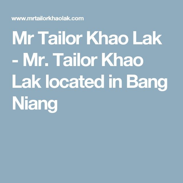 Mr Tailor Khao Lak - Mr. Tailor Khao Lak located in Bang Niang