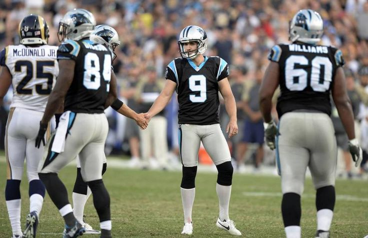 Panthers vs. Rams:  13-10, Panthers  -     Carolina Panthers kicker Graham Gano (9) is congratulated on making a field goal against the Los Angeles Rams in the second half at Los Angeles Memorial Coliseum in Los Angeles, CA on Sunday, November 6, 2016. The Panthers won, 13-10.