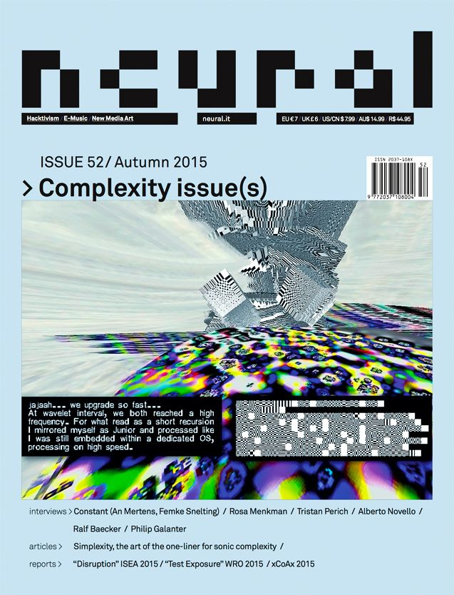 Neural #52 Complexity issue(s)   http://neural.it/2016/02/neural-52-complexity-issues/
