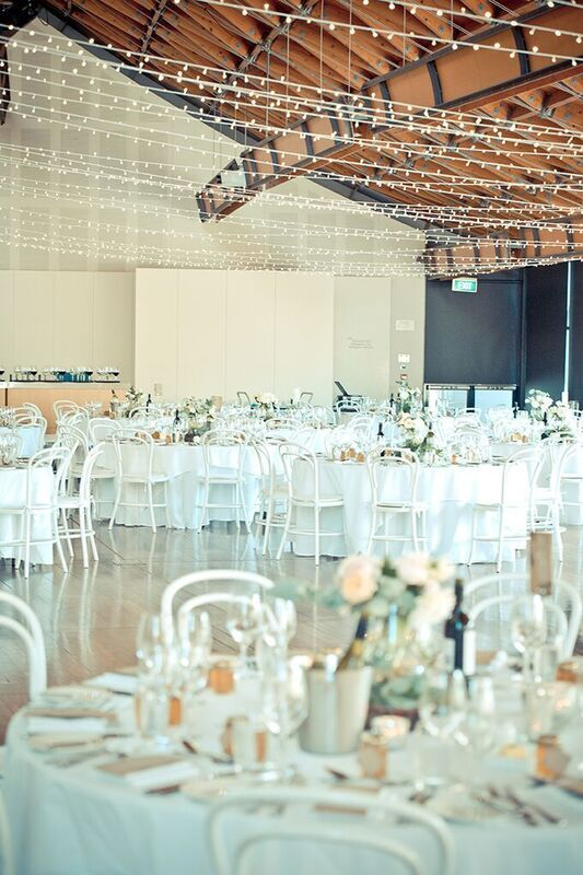 soft pastels and white bentwoods for v&b at the national wine centre image by mink studio