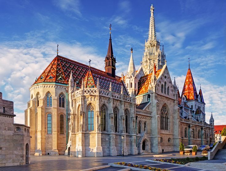 This is quite possibly the most beautiful church you will ever lay your eyes on, and it has a lot of competition around the world. The ornate gothic details and the incredible, vibrant tiled roof are found in the heart of the castle complex, and stand out across the city. #matthiaschurch #church #architecture #design #parkinn #travel
