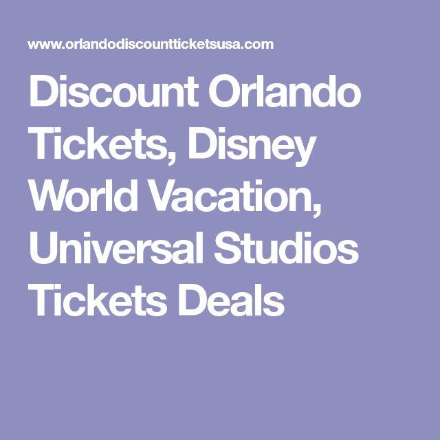 Discount Orlando Tickets, Disney World Vacation, Universal Studios Tickets Deals