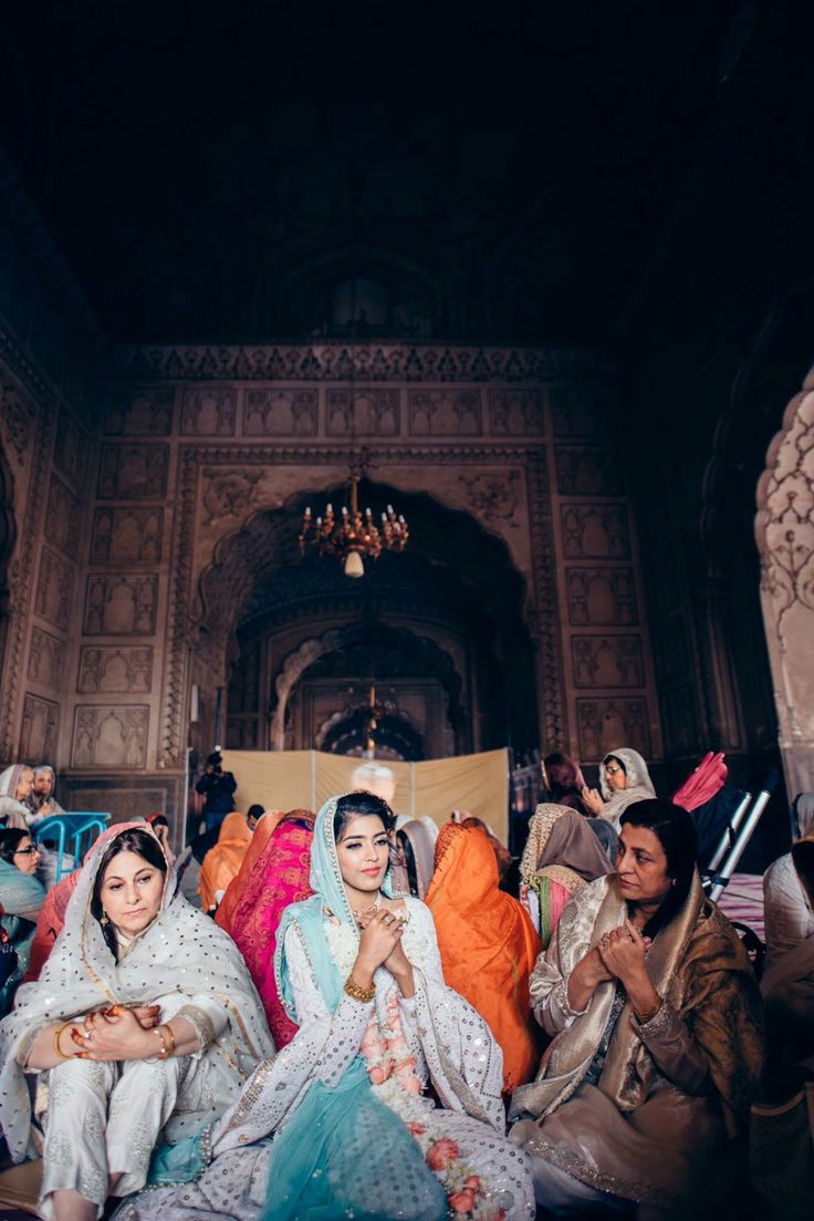 Nikkah ceremony in a mosque // culture of Pakistan