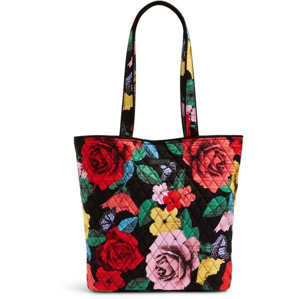 Vera Bradley Tote in Cuban Tiles ($49) ❤ liked on Polyvore featuring bags, handbags, tote bags, havana rose, white tote, pocket purse, pocket tote bag, vera bradley tote and tote handbags