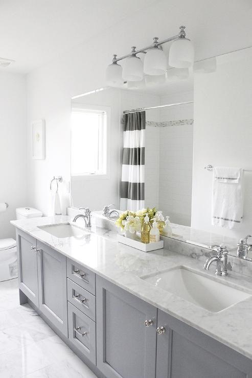Boys bathroom - cabinet color