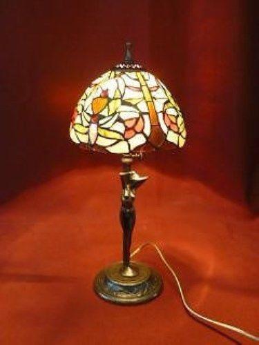 LAMP LAMPADA TIFFANY TAVOLO PASTA VETRO OTTONE BALLERINA DANZA ESTENSIBILE