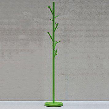 Jan Kurtz Albero Design Appendiabiti 170cm 3colori, Acciaio, Green, 28 x 28 x 170 cm