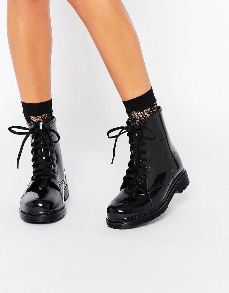 Glamorous | Glamorous - Stivali da pioggia stringati su ASOS