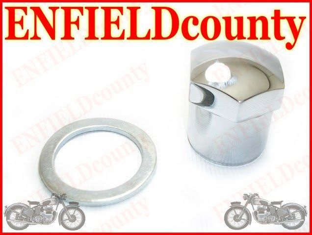 ROYAL ENFIELD CHROME PLATED STEERING LOCK NUT 110116