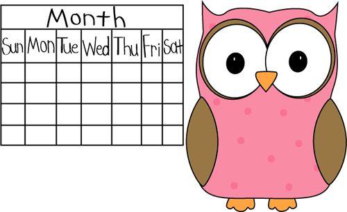Owl Classroom Calendar Job