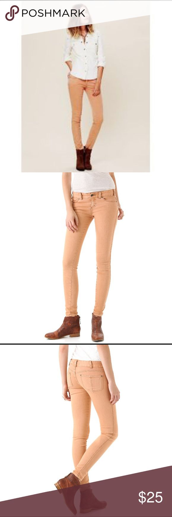 Free People Millennium Colored skinny jeans Free People Millennium Colored skinny jeans in peach/pink Free People Jeans Skinny