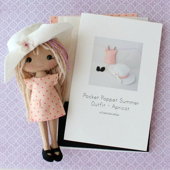 Summer Outfit Pattern Kit for Pocket Poppets  by Gingermelon