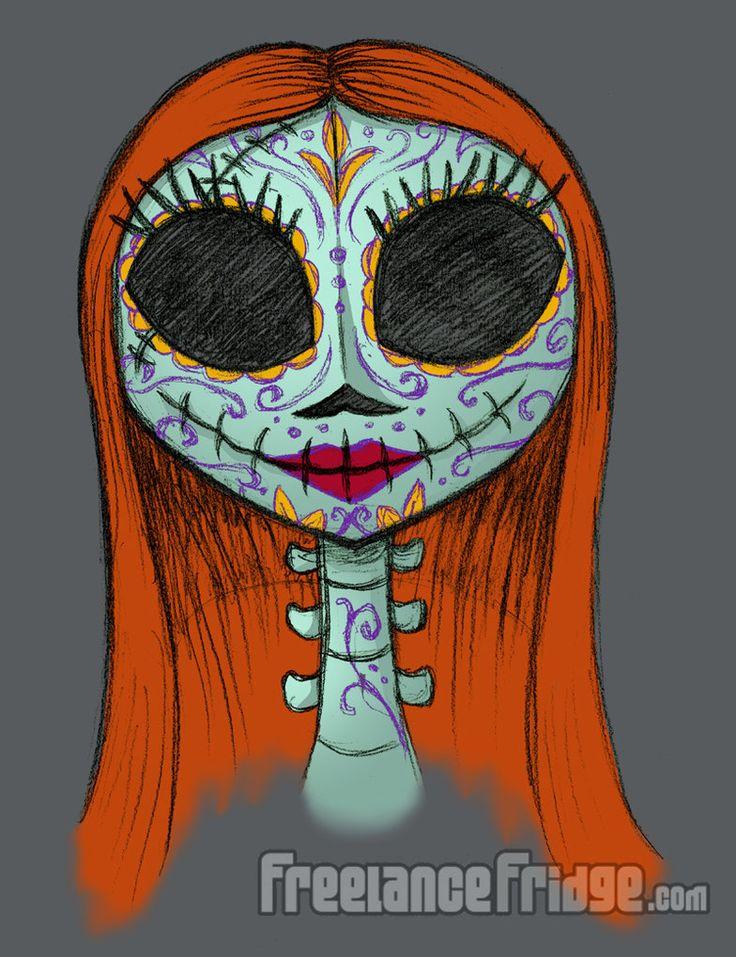 sugar_skull_version_of_sally_by_jameskoenig1-d5i4bi3.jpg (784×1020)