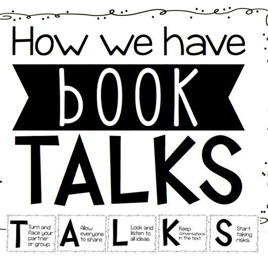 Free Poster Set on Book Talks and the importance of students learning to have conversations about books they read.