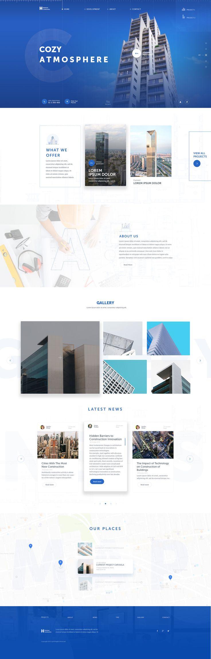 Horizon Construction Website Design