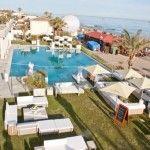 Birdseye view of Wedding at Estrella del Mar Beach Club