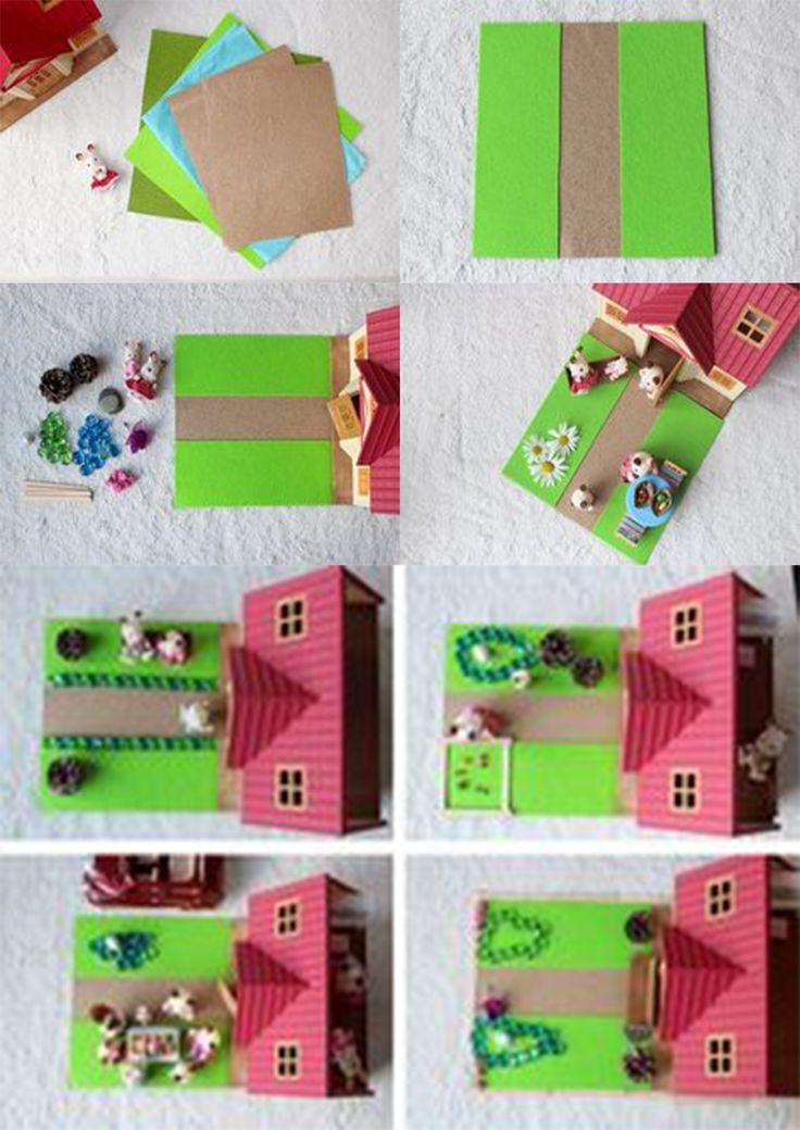 #DIY d'un jardin pour la maison des #SylvanianFamilies.  #Création par #mamannougatine #parents #enfant