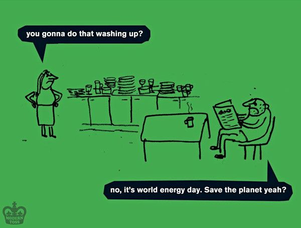 It's World Energy Day. Turn off a light or something.