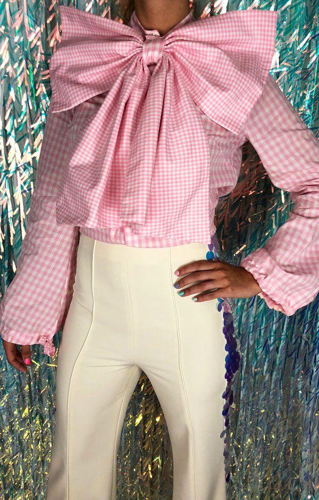 Bow Tie Blouse Pink In 2018 Fa Fa Fa Fa Fashion Pinterest Bow