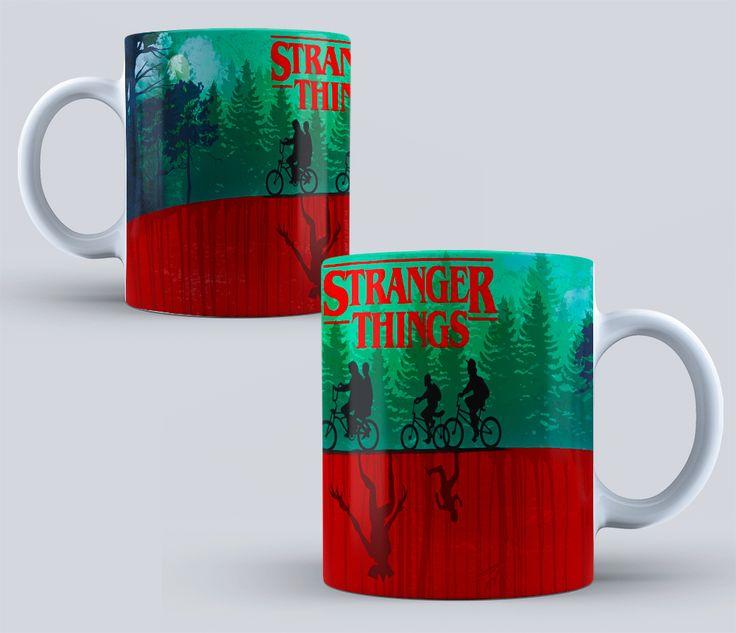 stranger things sublimation templates-STRANGER THINGS- Stranger Things Mug - Friends Don't Lie, TV Shows - Netflix - Design Sublimation