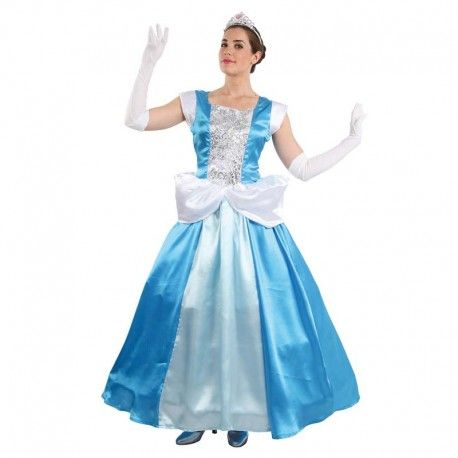Disfraces Disney mujer | Disfraz de cenicienta. Elegante modelo para cualquier princesa de cuento. Contiene vestido largo con can can. Talla M. 34,95€ #cenicienta #vestido #largo #vestidolargo #disfraz #disney #disfraces #disfrazdisney
