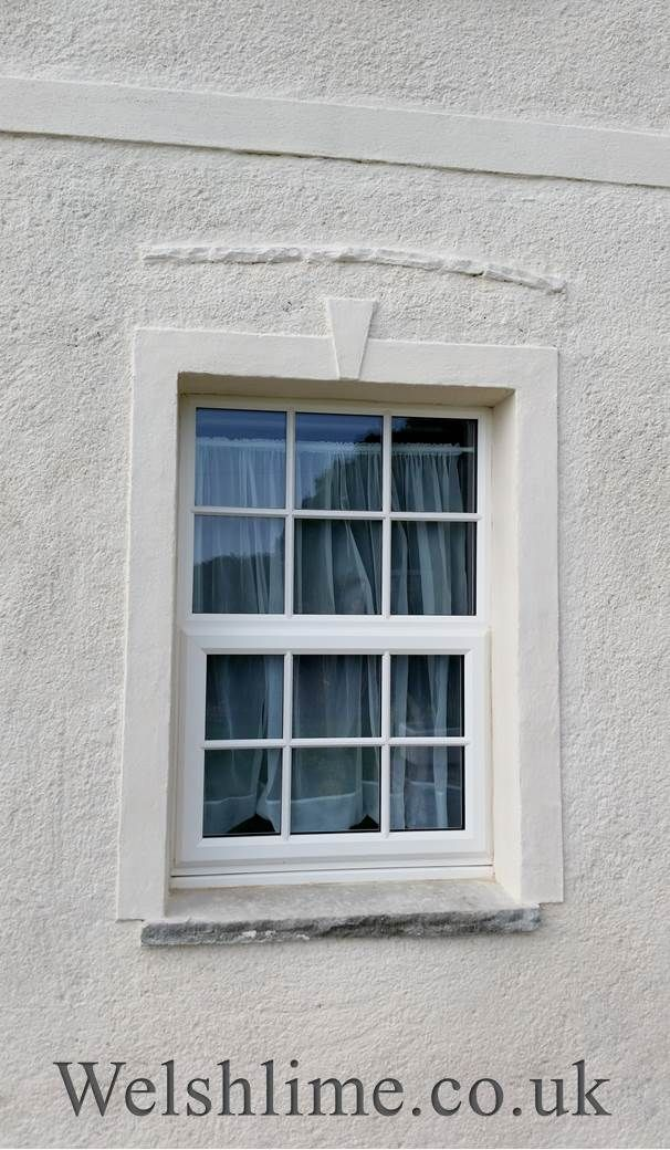 Lime Render With A Light Rough Cast Finish Decorative