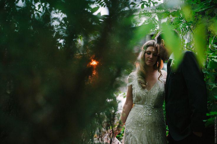 bride in Jenny Packham and dapper groom #jennypackham #weddingphotography #wedding #hipsterwedding