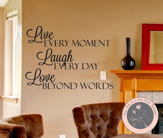 Wall Decals Live Laugh Love