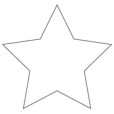 Stella a 5 punte  Disegno da colorare