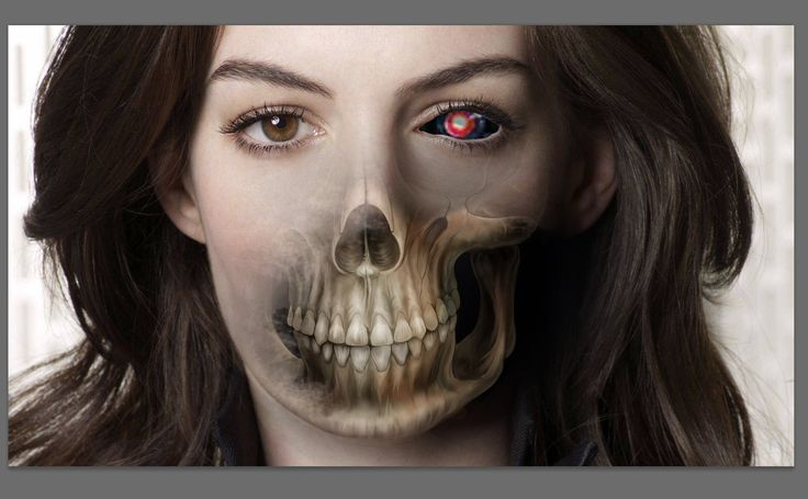 skull effect in photoshop